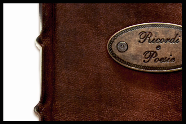 """Poems and Memories"" leather journal"