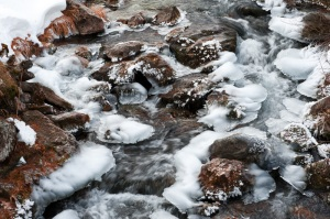 Iced river - Val Maira, Italy 2011