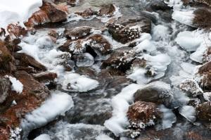 Iced river - Val Maira, Italy 2011