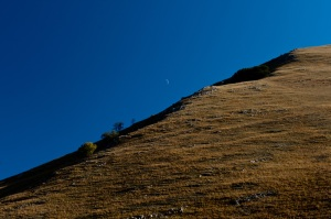 Early moon, National Park Monti Sibillini, 2011 Italy