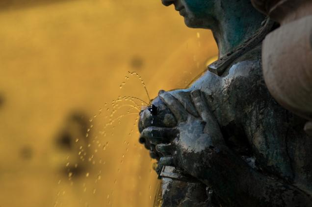 Neptune Fountain - detail, Bologna - Italy
