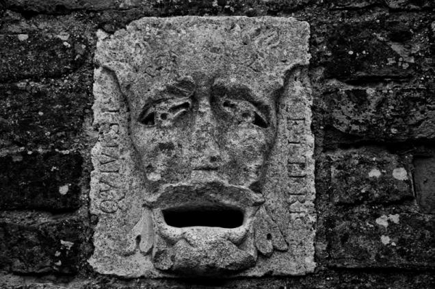 Stone sculpture - Gradara - italy