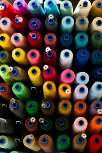 spools of colored thread - Bologna
