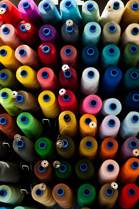 spools of colored thread - Bologna