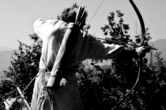 Sergio at the Traditional (primitve) archery games - Italy 2011