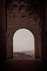 Gradara - view from the arch, Italy