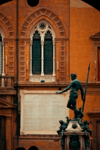 Neptune's fountain (part of) - Bologna, Italy