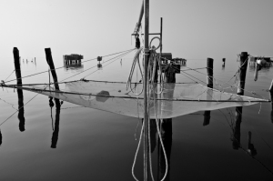 Fishing net in Pellestrina - Chioggia, Italy 2012