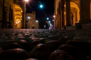 From via Santo Stefano to the Basilica, Bologna - Italy