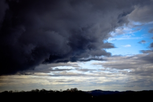 Black clouds - out of my window, Italy