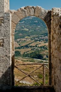 Petrella Guidi, view from the castle - Italy