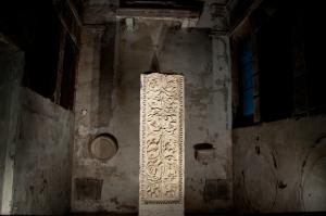 Marble stele in S.Apollinare Nuovo, Ravenna - Italy