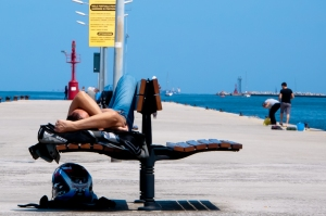 Lying in the sun - Marina Romea, Adriatic Sea -Italy