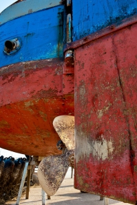 Boat waiting for repairs - Venetian lagoon, Italy