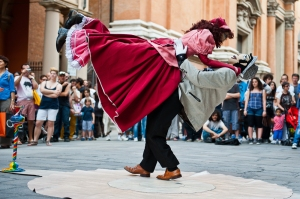 Street performer, today in Bologna, Italy
