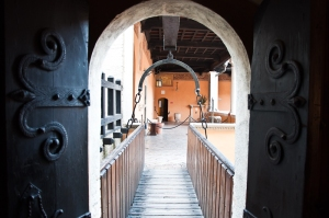 Inside view of the Gradara Castle - Italy