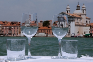 Venice on the rocks! View of the Giudecca Channel, Italy