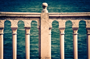 Rose marble balcony - Adriatic Sea, Italy