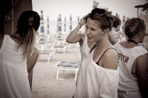 Girls on the beach, Adriatic Sea - Italy