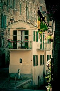 Narrow street, Montepulciano - Si, Italy