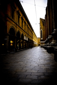Via dell'Archiginnasio, Bologna - Italy