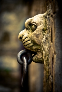 Stone lion, knocker - Italy