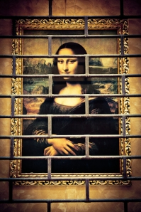 Gioconda, wall decoration - Bologna, Italy