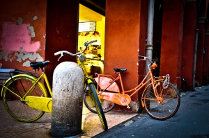 Colored bicycles, Modena - Italy