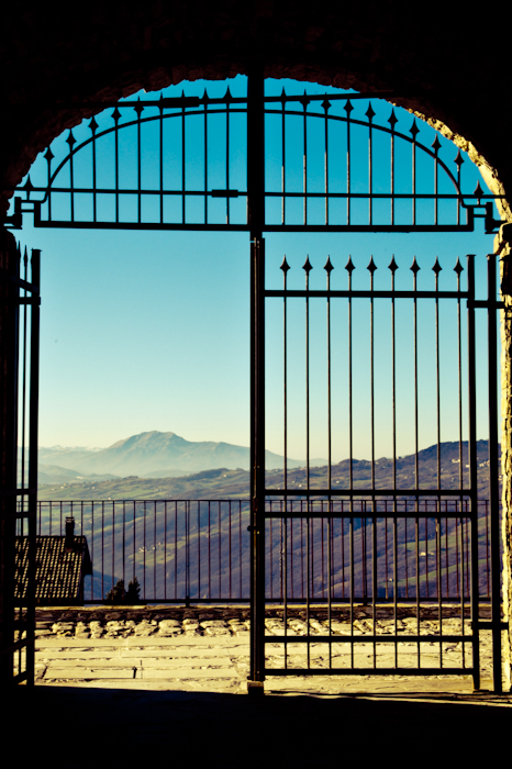 Open gate with view