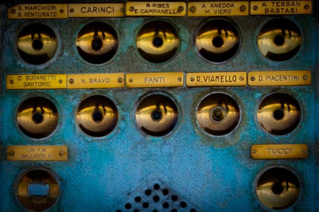 Doorbells, somewhere in Italy