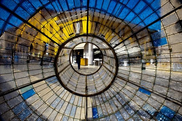 Art installation in Savignano sul Rubicone, Italy