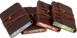 Soft leather wrapped journal Medioevalis